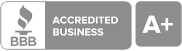 Logo that says BBB Accredited Business with an A Plus next to it